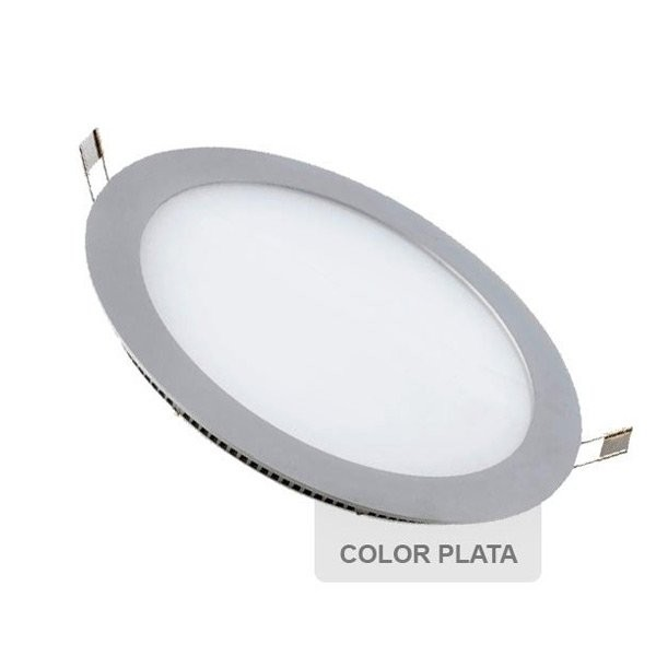 Downlight Led 7W Plata Redondo