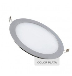 Downlight LED 16W Redondo Plata
