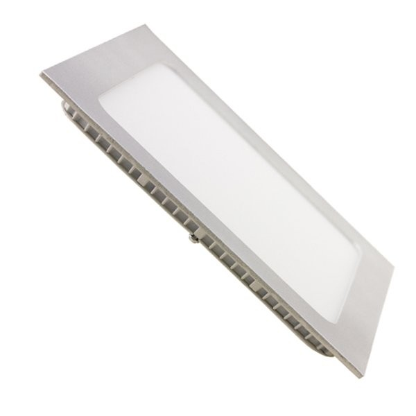 Downlight LED 4W Cuadrado Plata