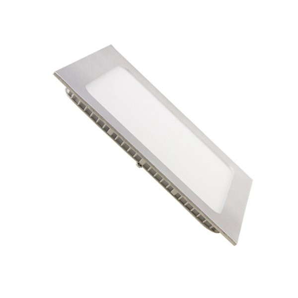 Downlight LED 13W Cuadrado Plata