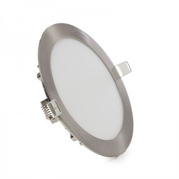 Downlight LED 24W Redondo Níquel Satinado