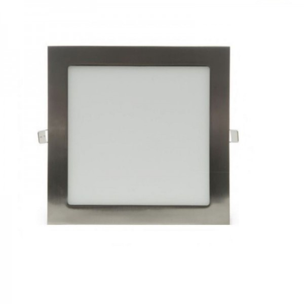 Downlight LED 4W Cuadrado Níquel