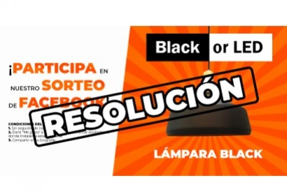 Resolución Sorteo Lámpara Black